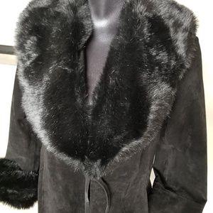 Victoria's Secret Jackets & Coats - Victoria's Secret Suede Leather leopard coat M